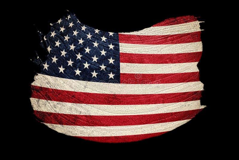 Drapeau grunge des Etats-Unis Drapeau américain avec la texture grunge Rappe de balai illustration de vecteur