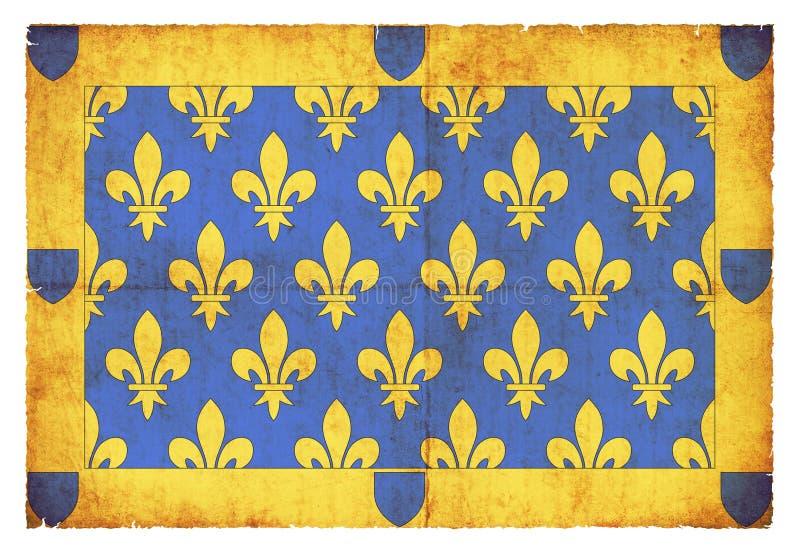 Drapeau grunge des Frances d'Ardeche image libre de droits