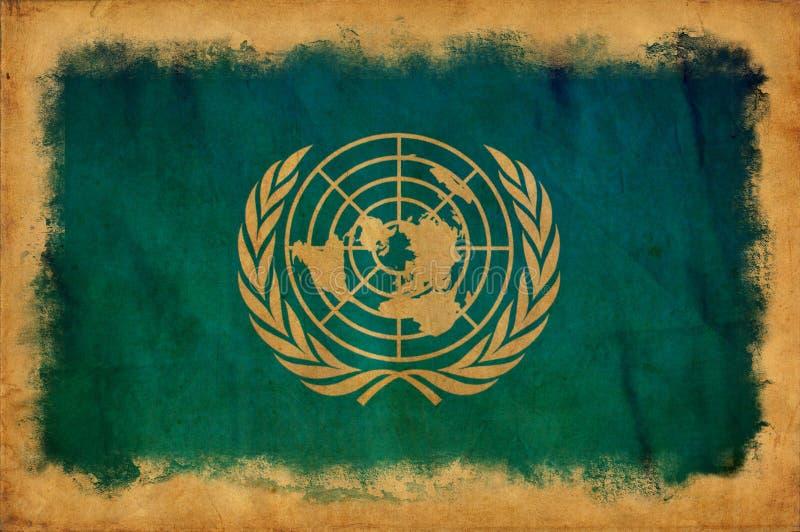 Drapeau grunge des Nations Unies illustration libre de droits