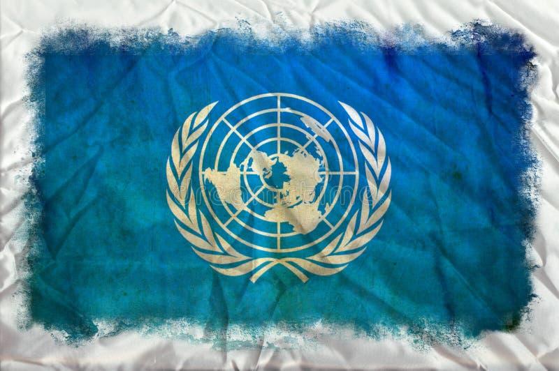 Drapeau grunge des Nations Unies illustration de vecteur