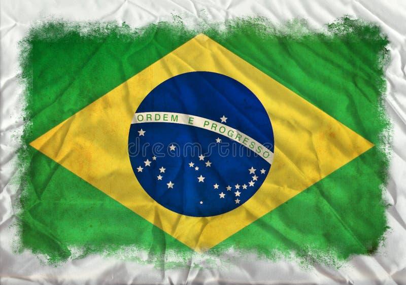 Drapeau grunge du Brésil illustration de vecteur