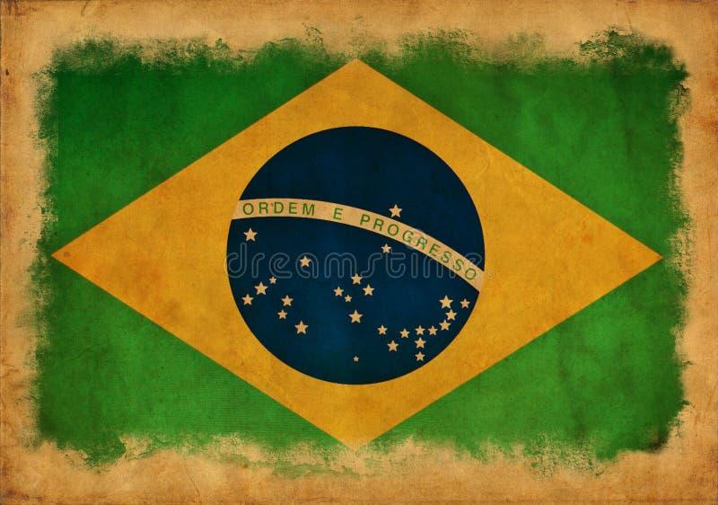 Drapeau grunge du Brésil illustration stock