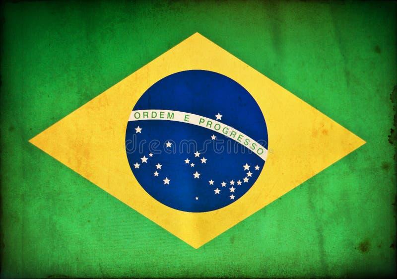 Drapeau grunge du Brésil illustration libre de droits