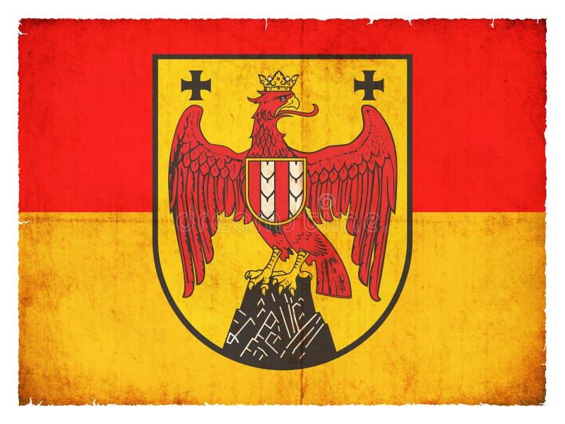 Drapeau grunge du Burgenland Autriche illustration stock