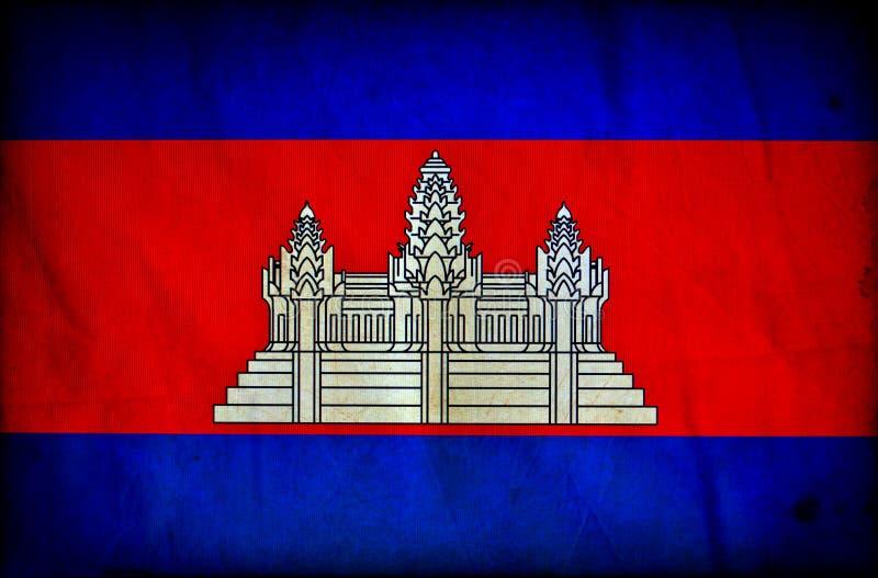 Drapeau grunge du Cambodge illustration de vecteur