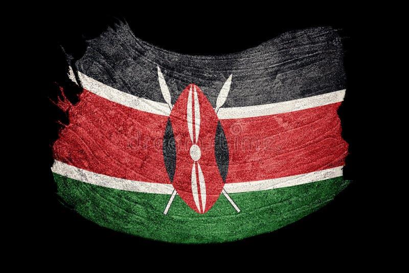 Drapeau grunge du Kenya Drapeau du Kenya avec la texture grunge Rappe de balai illustration de vecteur