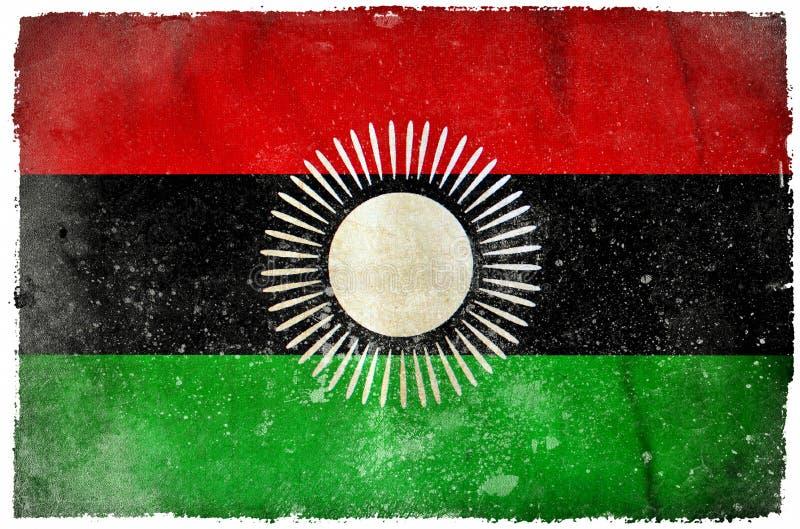 Drapeau grunge du Malawi illustration stock