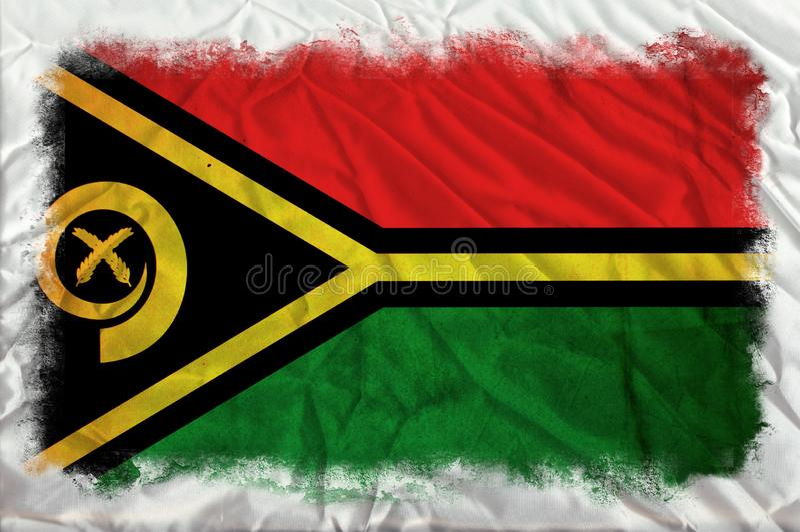 Drapeau grunge du Vanuatu illustration stock
