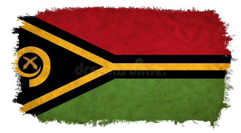 Drapeau grunge du Vanuatu illustration de vecteur