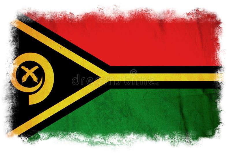 Drapeau grunge du Vanuatu illustration libre de droits