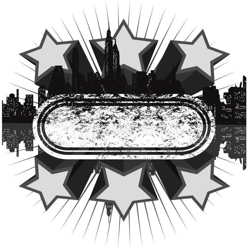 Drapeau grunge gris de disco illustration de vecteur