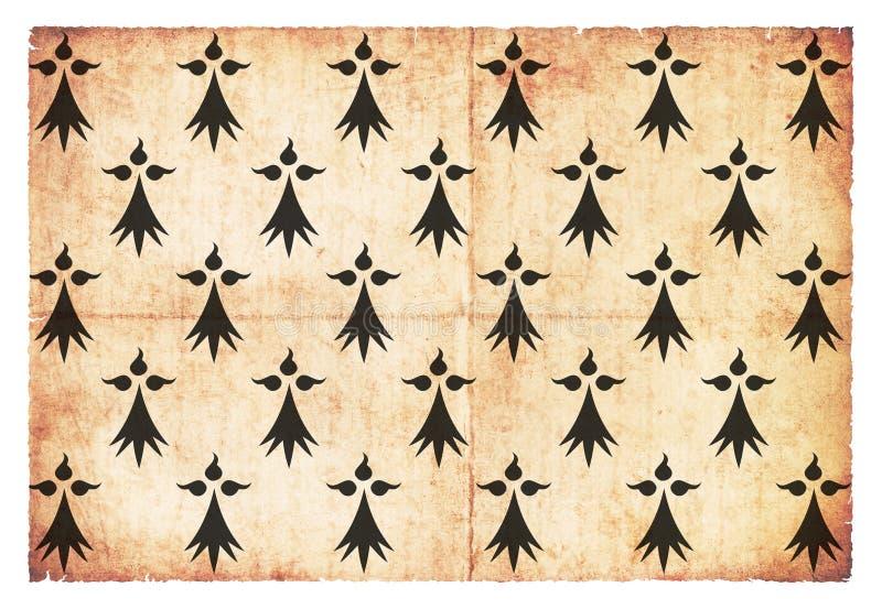 Drapeau grunge historique du duché de Brittany France image stock