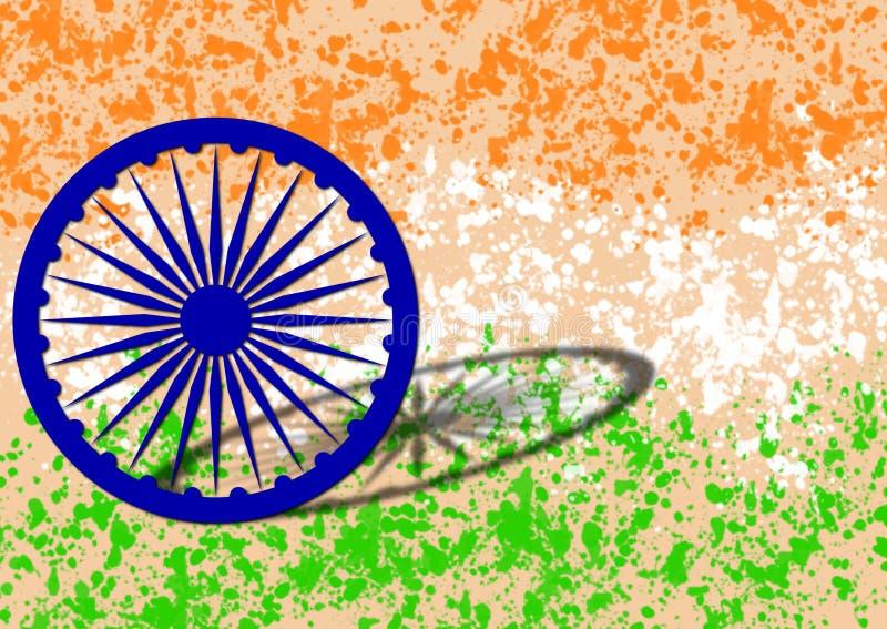 Drapeau indien le Jour de la Déclaration d'Indépendance de l'Inde image libre de droits