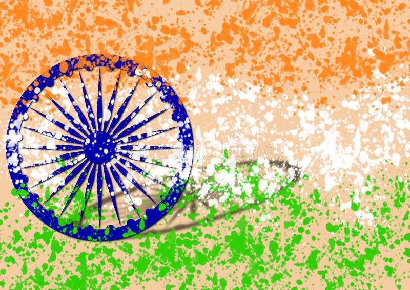Drapeau indien le Jour de la Déclaration d'Indépendance de l'Inde images libres de droits