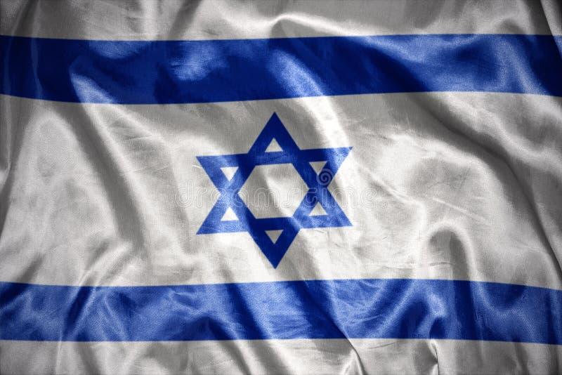 drapeau israélien brillant illustration libre de droits