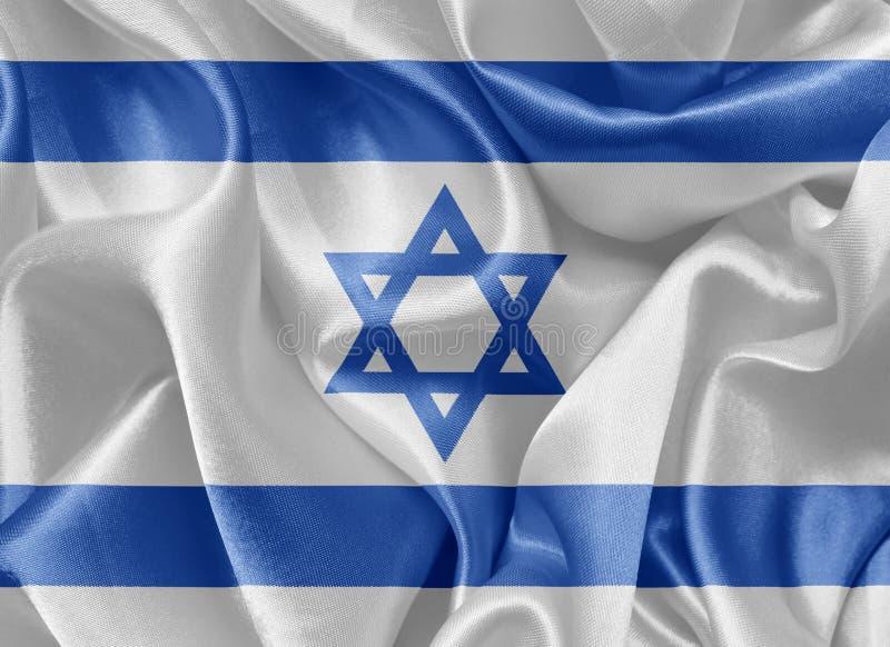 Drapeau israélien de satin illustration de vecteur