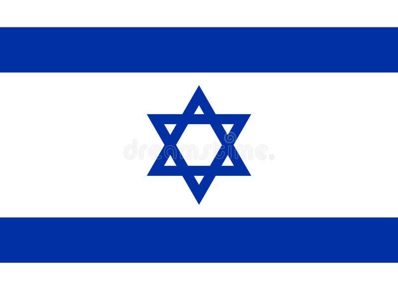 Drapeau israélien, disposition plate, illustration de vecteur illustration libre de droits