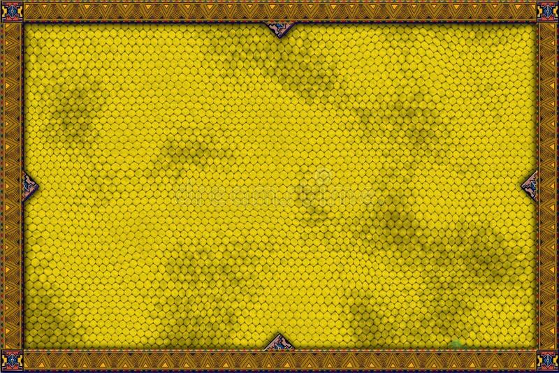 Drapeau jaune de lézard illustration de vecteur