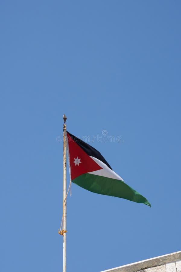 Drapeau jordanien photographie stock