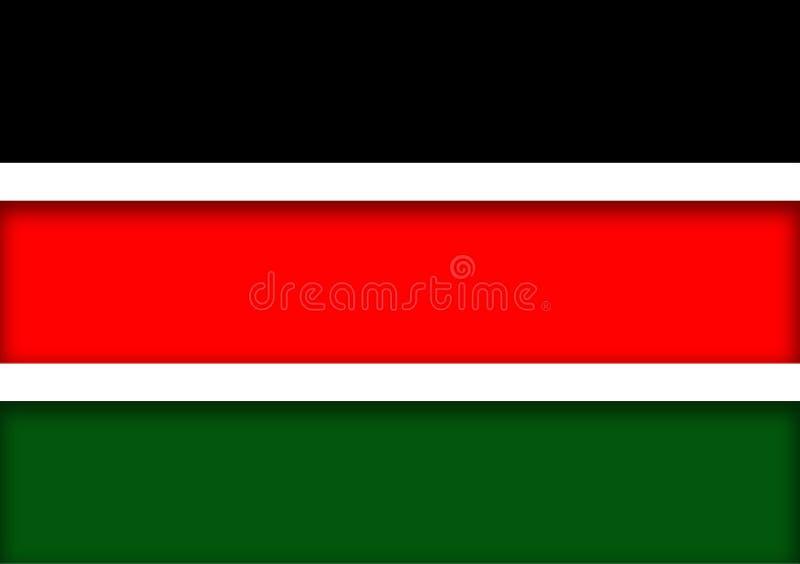 Drapeau kenyan comme image de trois dimensions illustration libre de droits