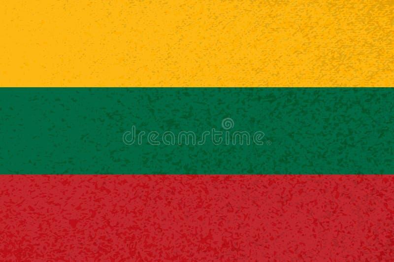 Drapeau lituanien à rayures jaunes rouges illustration libre de droits