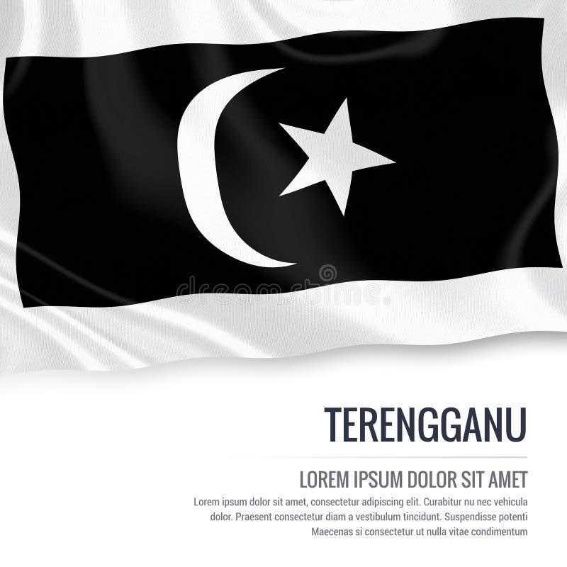 Drapeau malaisien de Terengganu d'état illustration stock