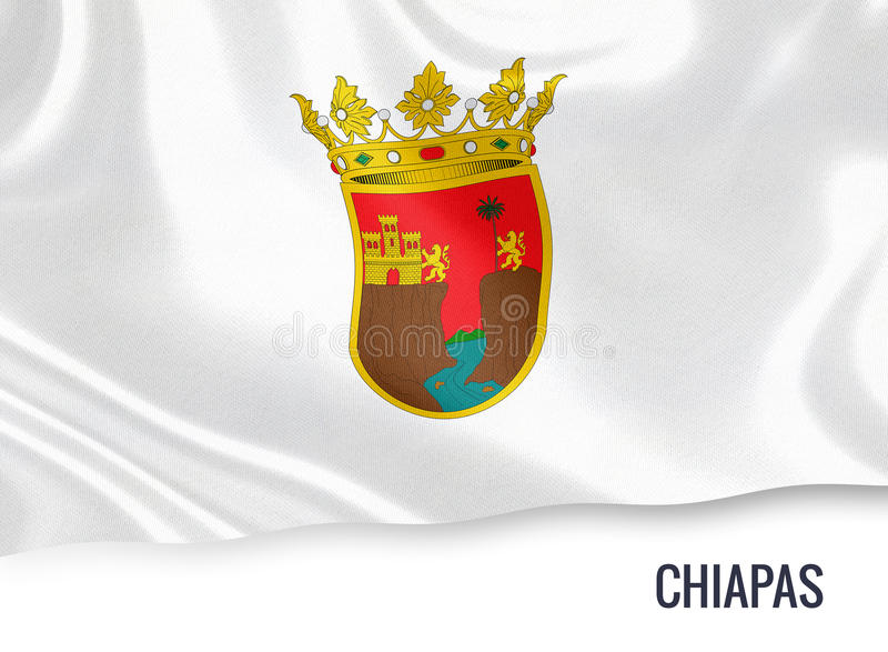 Drapeau mexicain de Chiapas d'état illustration libre de droits