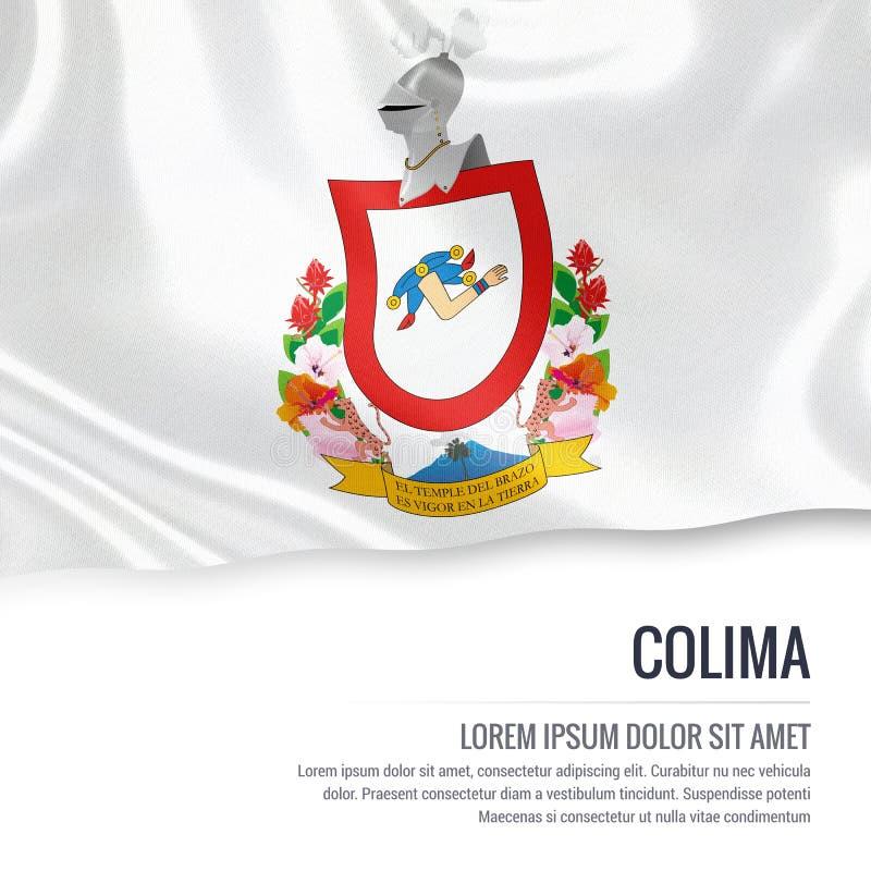 Drapeau mexicain de Colima d'état illustration libre de droits