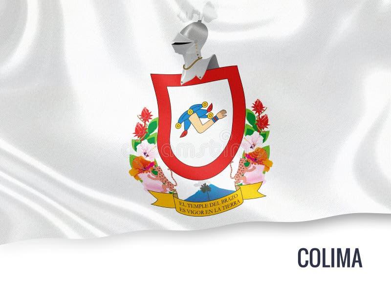 Drapeau mexicain de Colima d'état illustration stock