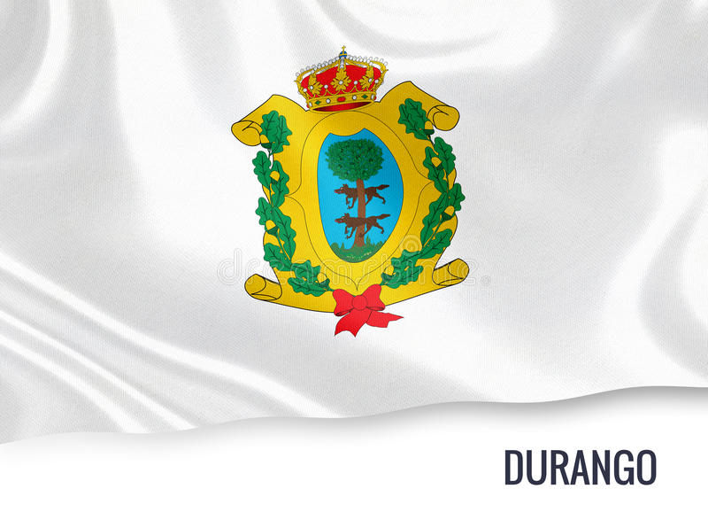 Drapeau mexicain de Durango d'état illustration de vecteur
