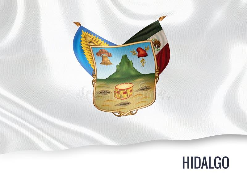 Drapeau mexicain de Hidalgo d'état illustration stock