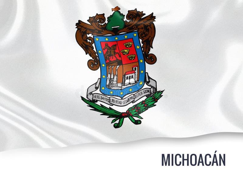 Drapeau mexicain de Michoacan d'état illustration de vecteur