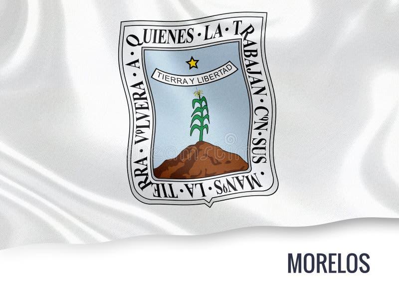 Drapeau mexicain de Morelos d'état illustration stock