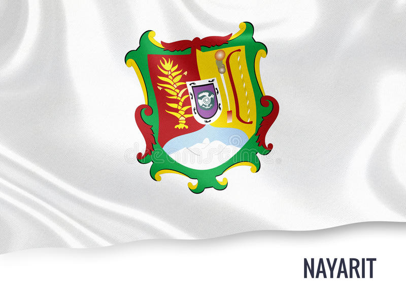 Drapeau mexicain de Nayarit d'état illustration de vecteur