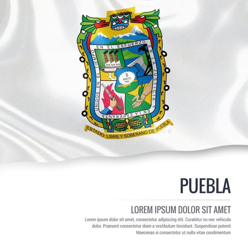 Drapeau mexicain de Puebla d'état illustration libre de droits