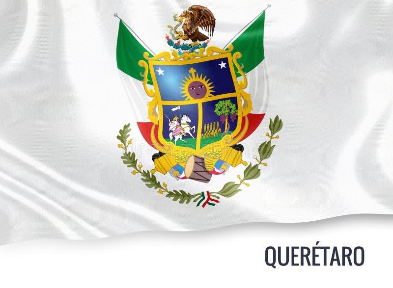 Drapeau mexicain de Queretaro d'état illustration stock