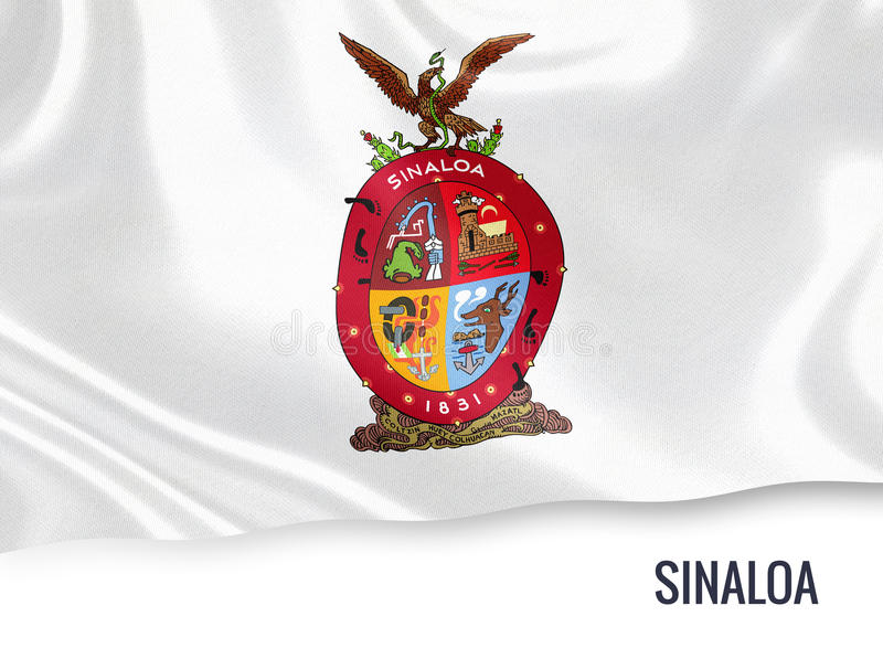 Drapeau mexicain de Sinaloa d'état illustration stock