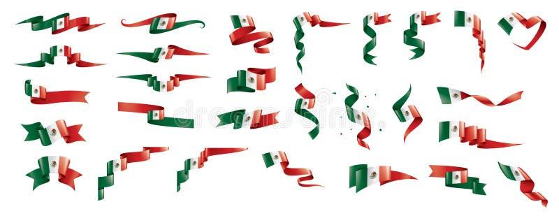 Drapeau mexicain, illustration de vecteur sur un fond blanc illustration de vecteur