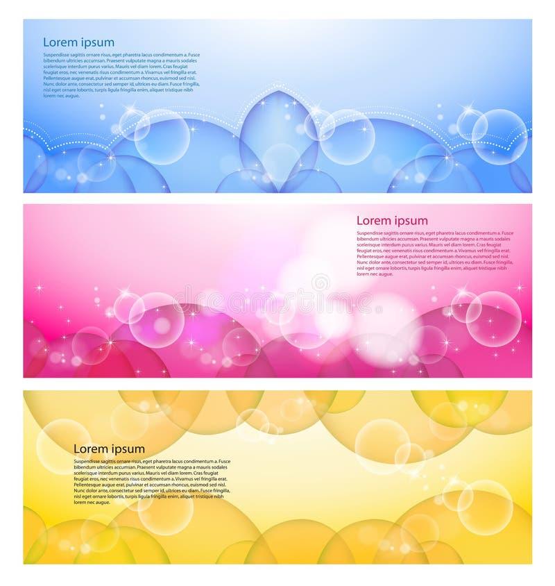 Drapeau moderne abstrait de site Web illustration de vecteur