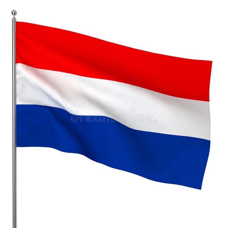 Drapeau néerlandais illustration libre de droits
