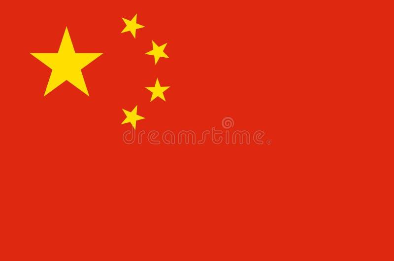 Drapeau national chinois, drapeau officiel de couleurs précises de porcelaine illustration stock