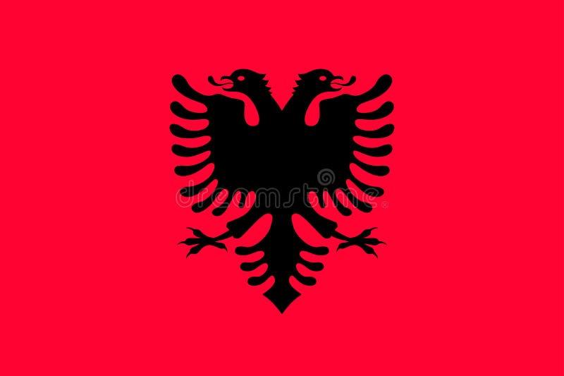 Drapeau national d'état de l'Albanie illustration de vecteur