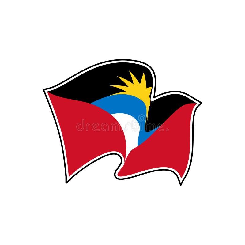 Drapeau national de l'Antigua-et-Barbuda Illustration de vecteur St John illustration libre de droits