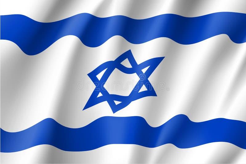Drapeau national de l'Israël, illustration de vecteur illustration stock