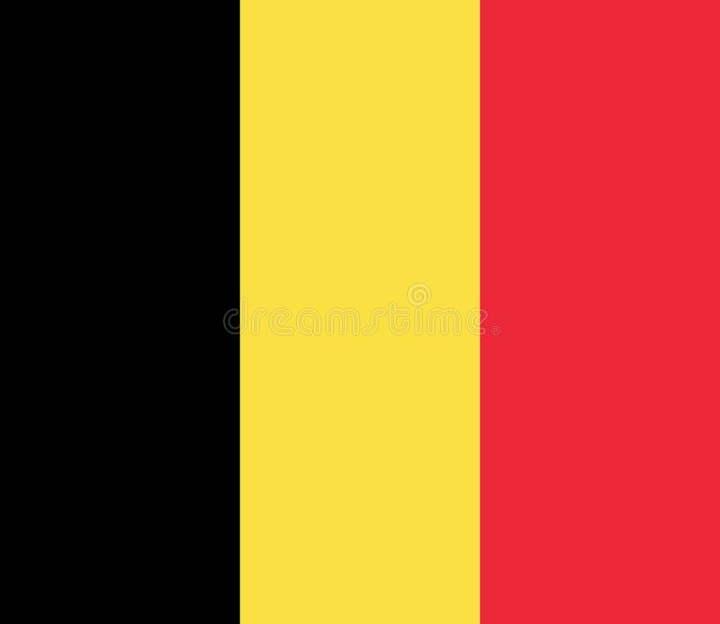 Drapeau national de la Belgique illustration libre de droits