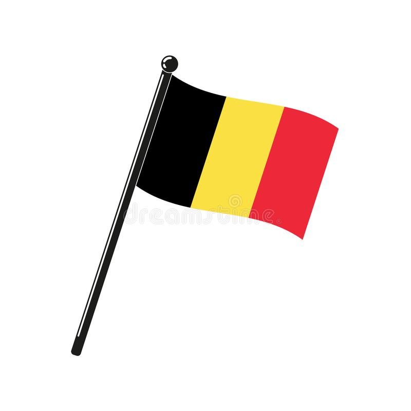 Drapeau national de la Belgique illustration stock
