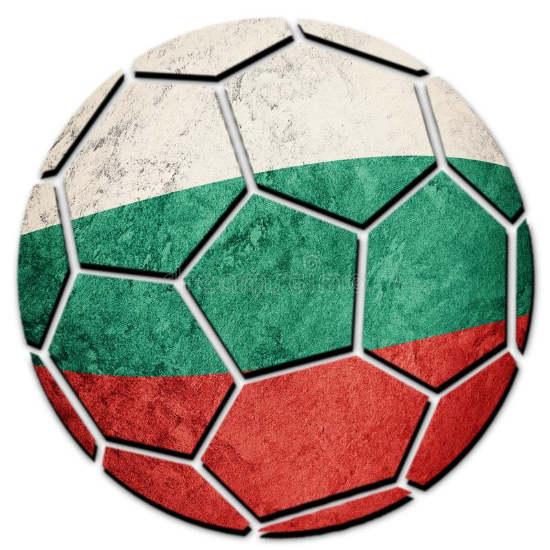 Drapeau national de la Bulgarie de ballon de football Boule bulgare du football photo stock