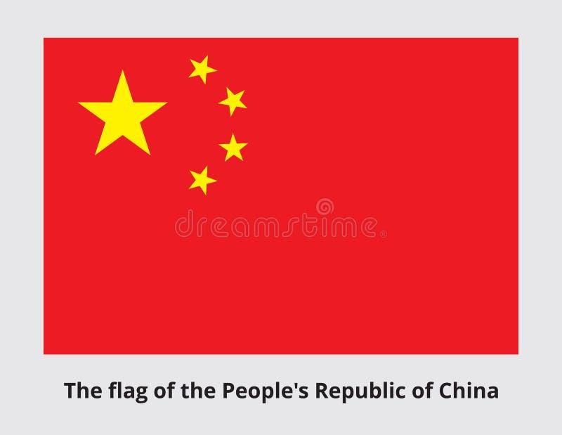 Drapeau national de la Chine illustration de vecteur