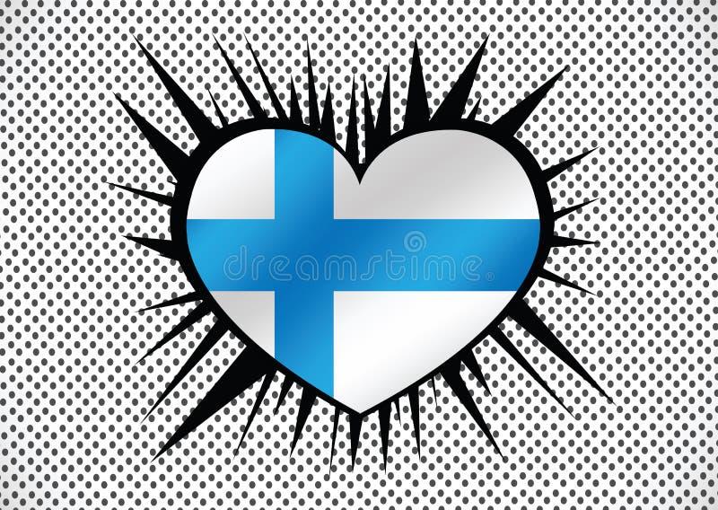 Drapeau national de la Finlande illustration stock