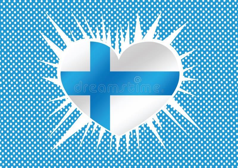 Drapeau national de la Finlande illustration libre de droits